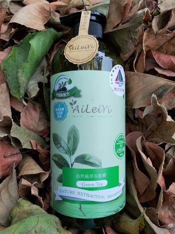 AiLeiYi清新綠茶天然修護洗髮精